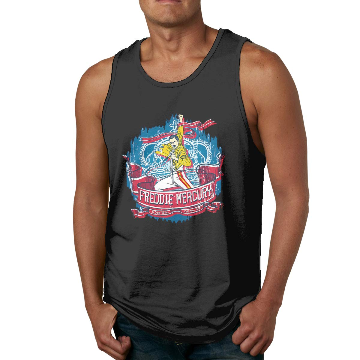 Ueseu Adult S Freddie Mercury Training Sleeveless Tank Top100 Shirts