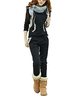 BYD Donna 2pcs Felpa Tute Felpa con Cappuccio Accollato Cappotto Tuta  Training Ispessisce Abbigliamento Sportivo Hoodie 7604d1d0e4d