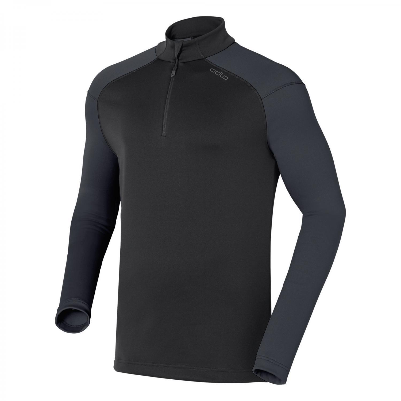 Odlo Midlayer Stand-Up Collar 1 2 Zip Alpstein schwarz
