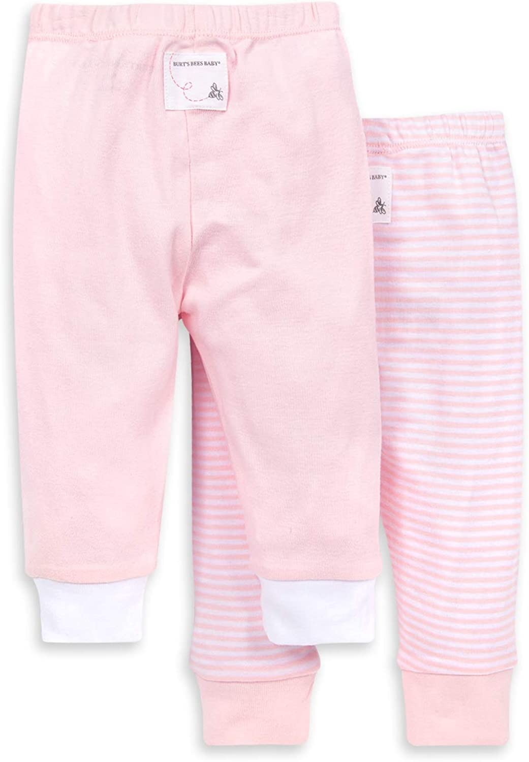 Burts Bees Baby Set of 2 Lightweight Knit Infant Bottoms Unisex Baby Pants 100/% Organic Cotton