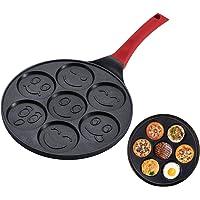 Non-Stick Poêle à petit-déjeuner influencant Petite poêle à gâteau avec trous pour la cuisson des poêles à œufs de miroir, muffin Pan Waffles Maker pour enfants