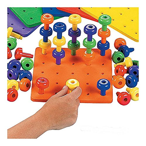 Stack It Peg Board Autism Game Fine Motor Skills Toys Occ...