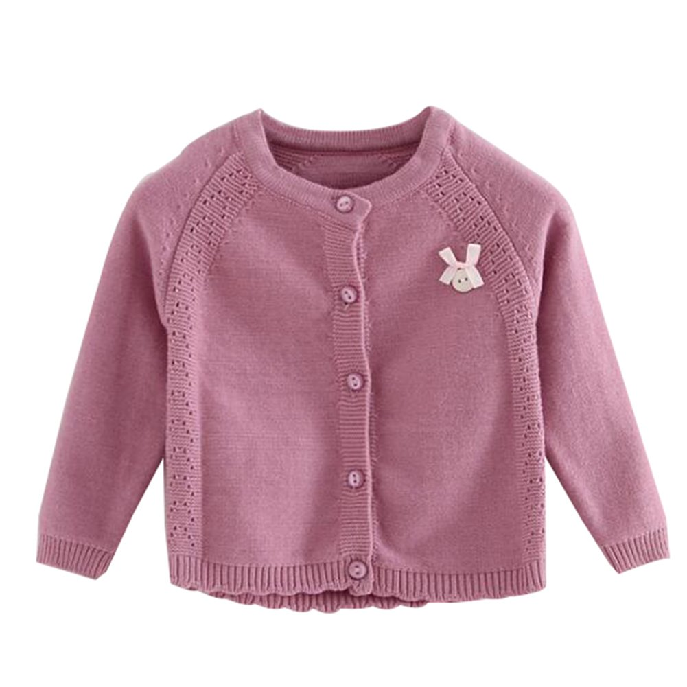 Baby Girls Princess Cardigan Knit Sweaters Toddlers Button-Down Sweater Jacket