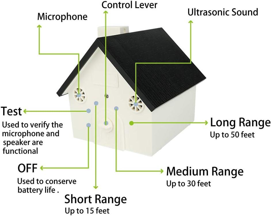 impermeabile sistema di controllo antiabbaio dispositivo di controllo della corteccia per esterni Dispositivo di controllo a ultrasuoni anti abbaiamento Angelikashalala