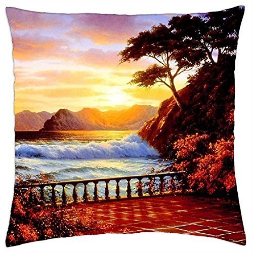 Seaside terrace - Throw Pillow Cover Case (18 ()