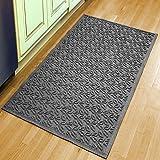 Weather Guard Leaf 34-1/2-Inch x 58-Inch Door Mat in Gray