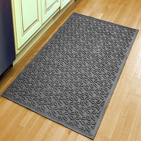 Weather Guard Leaf 34-1/2-Inch x 58-Inch Door Mat in Gray