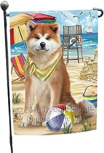 Doggie of the Day Pet Friendly Beach Akita Dog Garden Flag GFLG49778