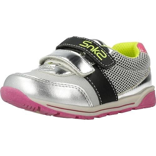 Zapatillas para niña, Color Plateado, Marca CHICCO, Modelo Zapatillas para Niña CHICCO Garden Plateado: Amazon.es: Zapatos y complementos