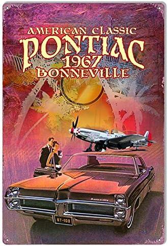1967 Pontiac Bonneville Metal Sign Vintage Look Reproduction