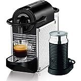 DeLonghi Nespresso Pixie with Aeroccino Coffee Machine, Silver, EN125SAE