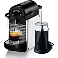 DeLonghi Nespresso Pixie with Aeroccino Coffee Machine, Silver, EN125SAE