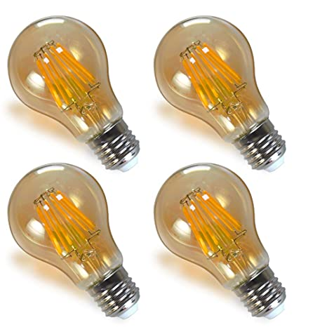 Lamparas Bombillas Globo Edison de Filamento LED Vintage Decorativas E27 8W con Vidrio Retro Iluminacion Luz