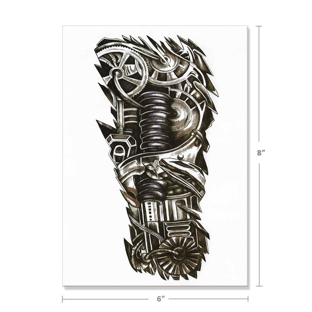36f15b5a6ec70 Amazon.com: Large Temporary Tattoo Stickers 8 Sheets for Teens Guys Men,  Playmax Fake Tattoo Biker Tattoo Waterproof Stickers for Arms Shoulders  Chest ...