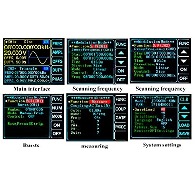 Onepeak 60MHz Dual-channel DDS Function Signal Generator, High Precision Arbitray Waveform Generator