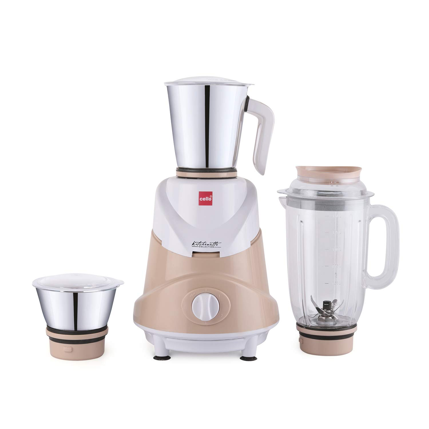Cello CLO_ERTGA_JCR_750 750W Mixer Grinder, Beige, Cream