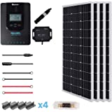 Renogy 400 Watt 12 Volt Off Grid Solar Premium Kit with Monocrystalline Solar Panel and 40A MPPT Rover Controller…