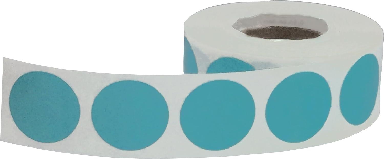 19 mm 3//4 di Pollice Rotondo 500 Etichette su Rotolo Argento Lucido Cerchio Punto Adesivi