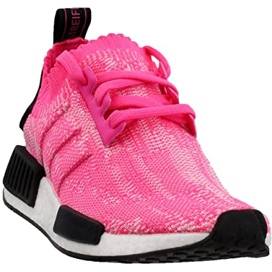 d56e21f5c7 adidas NMD R1 PK Primeknit Solar Pink Black Womens Sizes AQ1104 (5 us)