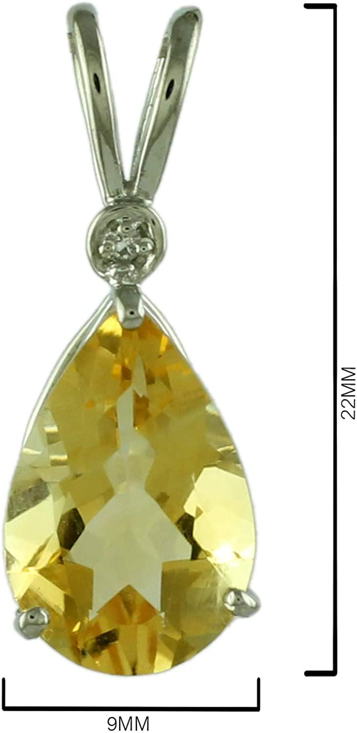 Citrine 2.63 Ct 925 Sterling Silver Pendand