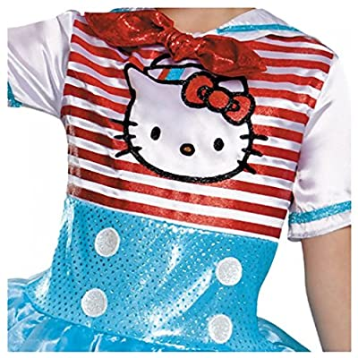 Disguise Girls Hello Kitty Sailor Costume Hat & Gloves: Clothing