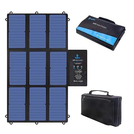 BigBlue 63W Cargador Solar Plegable, SunPower Panel Solar ...
