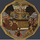 polyster Canvas ,the Best Price Art Decorative Canvas Prints of oil painting 'Workshop of Apollonio di Giovanni and Workshop of Marco del Buono Birth Tray The Triumph of 2 ', 30 x 30 inch / 76 x 77 cm is best for Bar decoration and Home decor and Gifts
