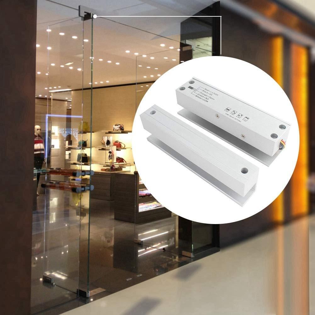 MAGT Access Door Lock Delay Adjustable Electric Bolt Lock Frameless Door Security Access Control System