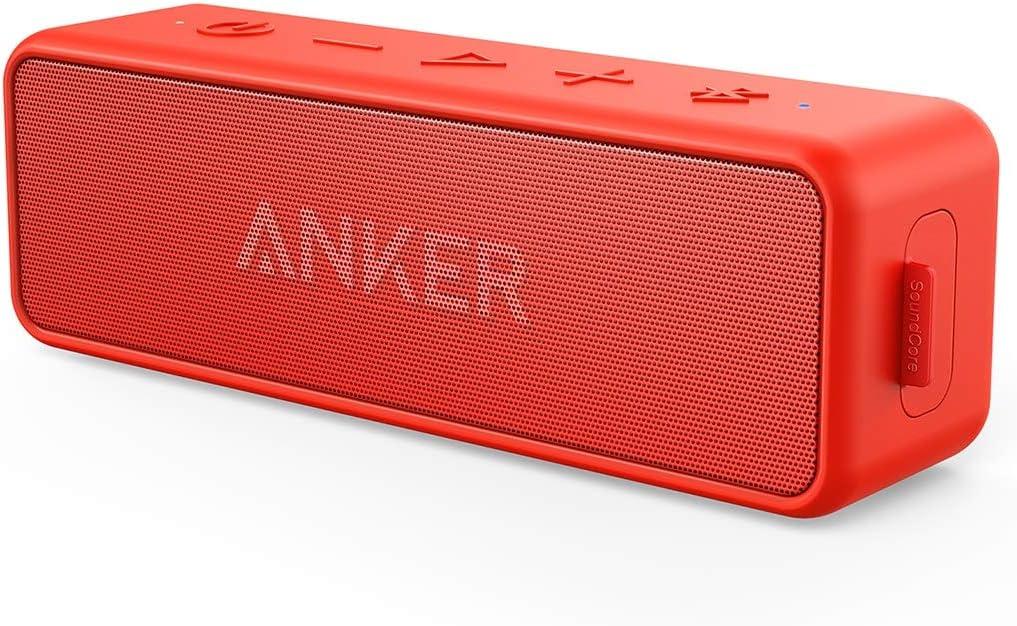 Anker Soundcore 2 Altavoz Bluetooth Portátil inalámbrico impermeable, 24 horas, IPX5, Micrófono incorporado, para iPhone, HUAWEI, Xiaomi, Samsung