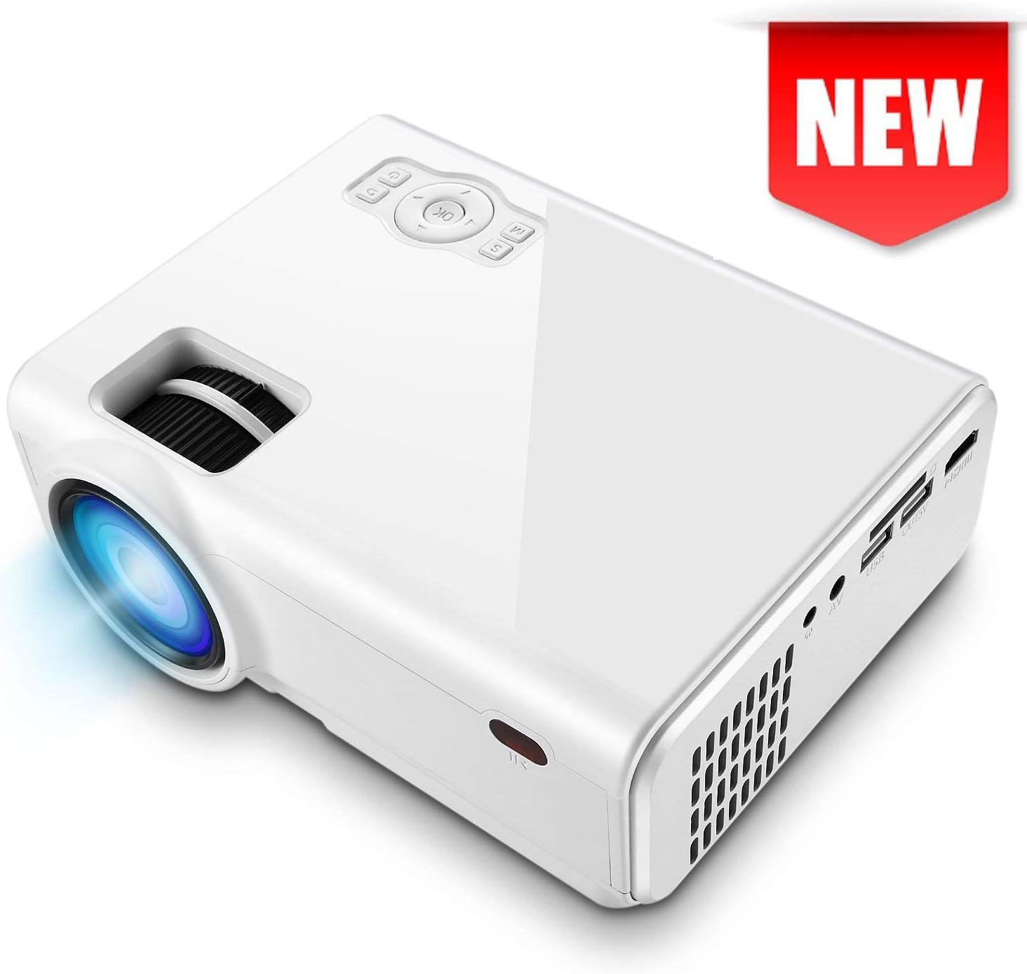 Mini proyector de vídeo, XINDA 2900 Lux Proyector con pantalla de ...
