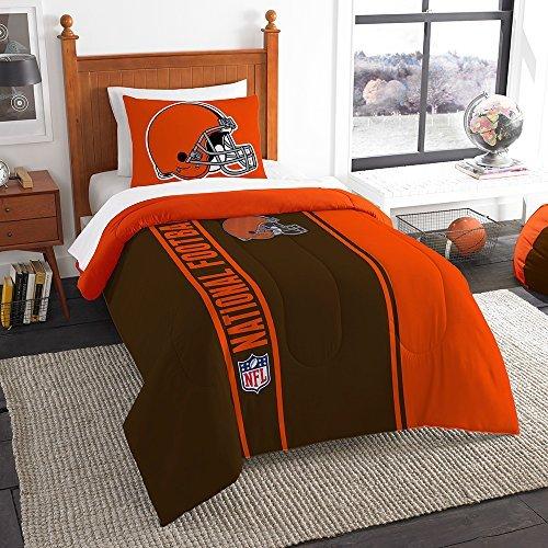 Northwest Sham NOR-1NFL835000005BBB 64 x 86 Cleveland Browns NFL Twin Comforter Set, Soft & Cozy