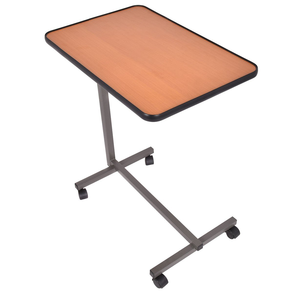 DreamHank Medical Adjustable Overbed Table with wheels for Hospital and Home Use (Beige)