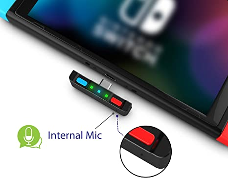 Amazon Com Homespot Bluetooth 5 0 Audio Transmitter Adapter With Usb C Connector Built In Digital Mic Aptx Low Latency For Nintendo Switch Compatible With Airpods Ps4 Bose Sony And Bluetooth Headphones