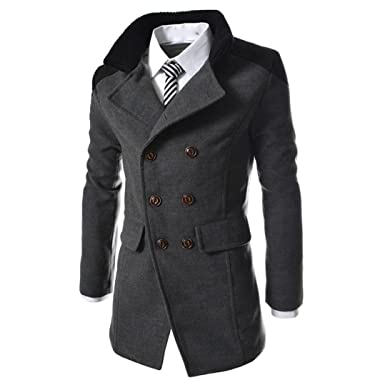 on sale 346cf 5af32 Cappotto Uomo Inverno, BeautyTop Giubbotto Autunno Trench Giacca Manica  Lunga Elegante Caldo Camicetta Invernale Parka Lungo Cappotto Giacca  Outwear ...