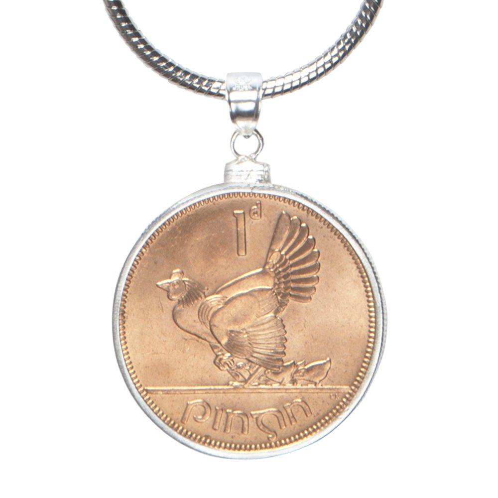 7 Year Wedding Anniversary - Genuine Lucky Copper Irish Penny Pendant