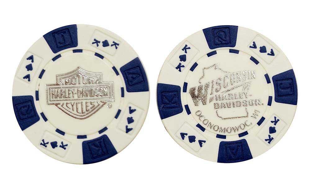 かわいい! ハーレーダビッドソン ウィスコンシンハーレーダビッドソンポーカーチップ ホワイト&ブルーの配色 B07234K3Y1 B07234K3Y1, ビホロチョウ:58929a0e --- arianechie.dominiotemporario.com