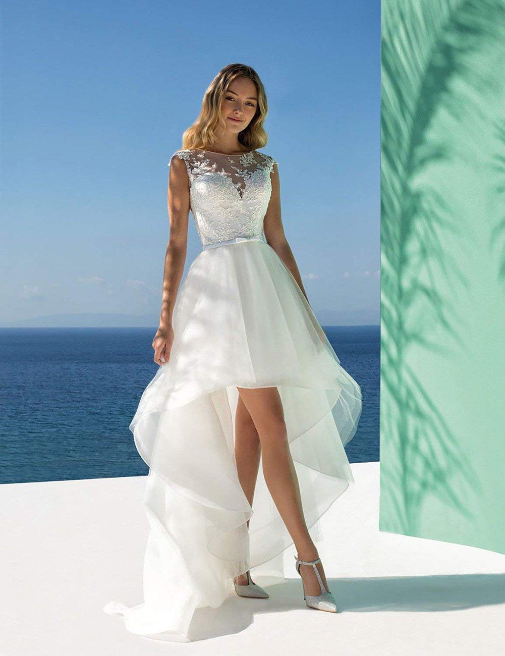 white beach wedding dresses cheap online