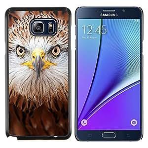 Dragon Case - FOR Samsung Note 5 N9200 N920 - hawk eagle bird prey brown nature - Caja protectora de pl??stico duro de la cubierta Dise?¡Ào Slim Fit