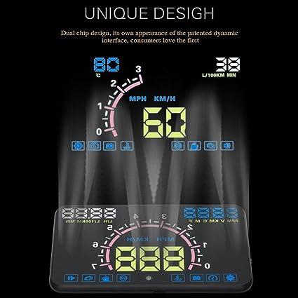 Auto Universal Hud Head Up Display Vgeby 5 8 Zoll Obdii Euobd Schnittstelle Geschwindigkeit Warnung Alarmsystem Auto