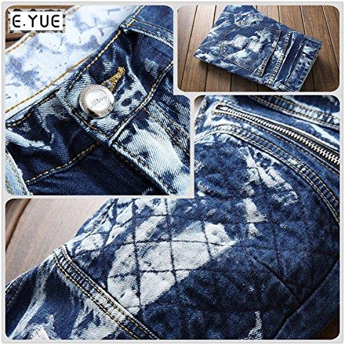 E.YUE jeans uomo strappati straightFit Sguardo Distrutto#512