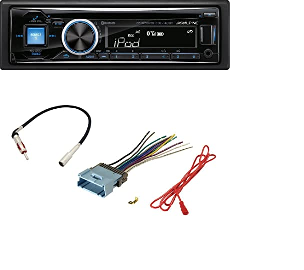 614Yt8RqpfL._SX608_ amazon com alpine cde 143bt cd usb mp3 wma aux ipod iphone alpine cde 143bt wiring harness at bakdesigns.co