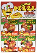 Delightfully detailed pizza slices Made of soft and chewy gummi candy Reheating or microwaving is not recommended for gummi pizzas