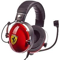 T.Racing Scuderia Ferrari Edition - Auriculares multiplataforma para Juegos inspirados en Las verdaderas paddocks de Ferrari Scuderia's