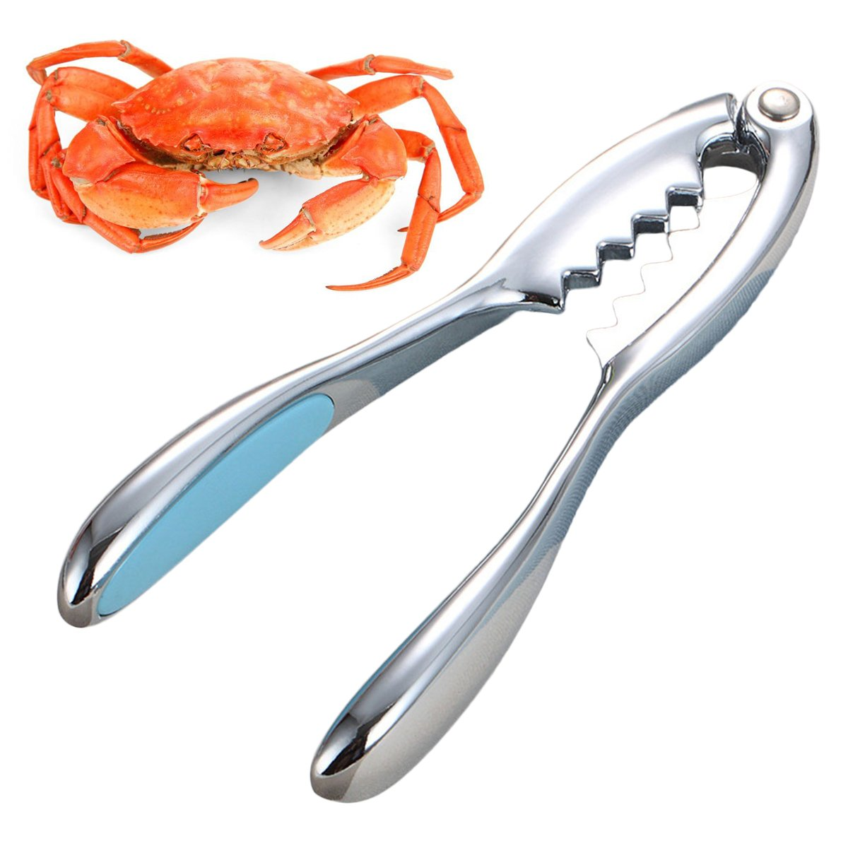 Justdolife Crab Cracker Crab Tool Seafood Tool Multifunctional Professional Nut Cracker for Lobster Crab Nut