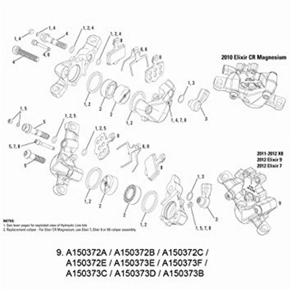 AVID Scheibenbremse ´´Code´´ Bremssattel (ab Modell 2011), Bremssattel kpl., Code, silber