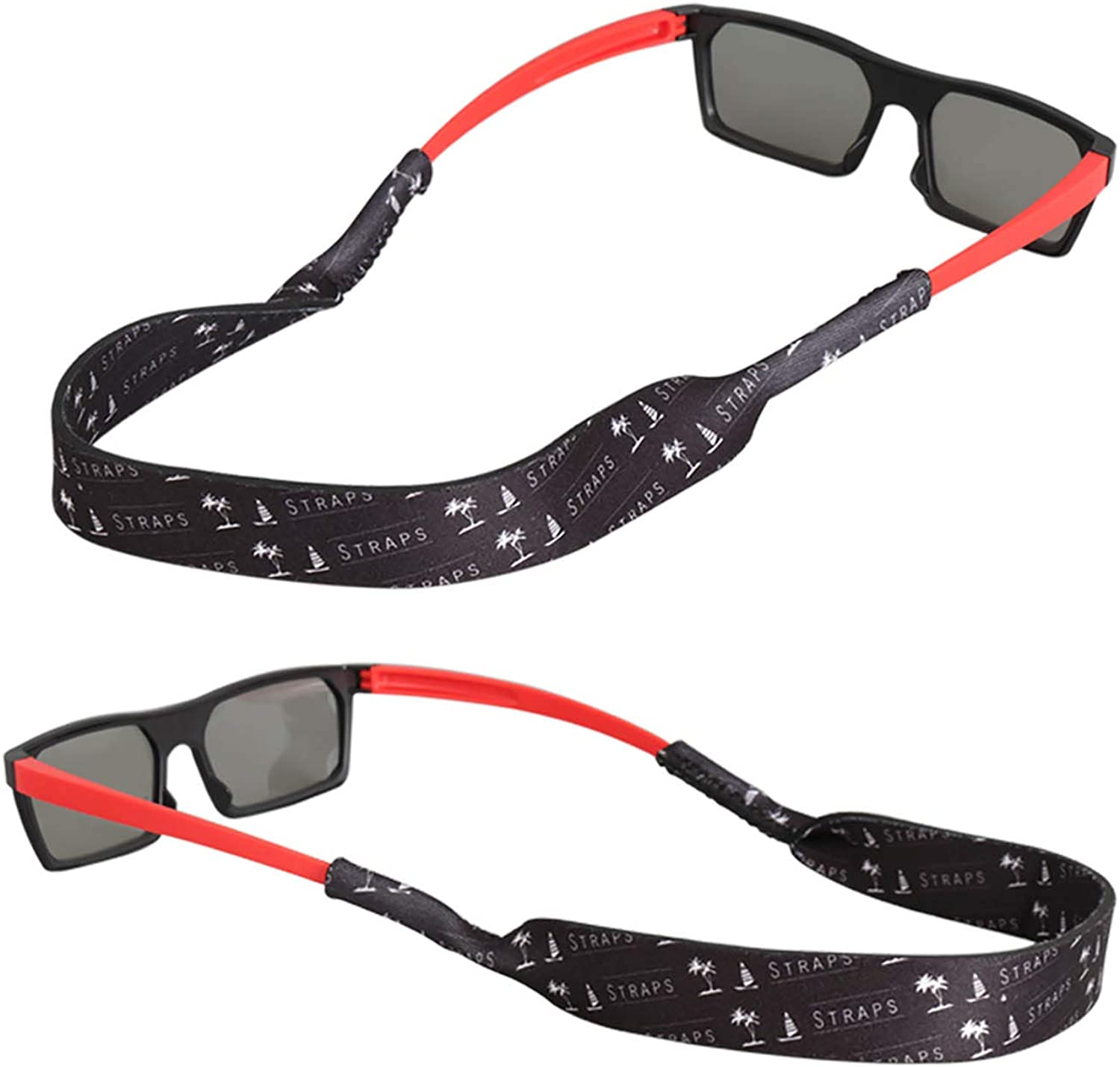 Fishing Custom Design for All Water Sports 2PCS FTALGS Original Cotton Standard End Eyewear Retainer, Sunglass Holder Strap Rock climbing Hiking etc. A. Eye of charm Biking