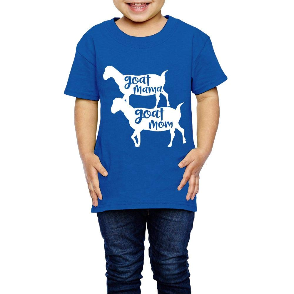 XYMYFC-E Goat Mom Mama 2-6 Years Old Kids Short-Sleeved T-Shirt