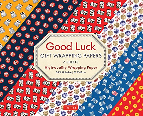 Good Luck Gift Wrapping Papers - 6 Sheets: 6 Sheets of High-Quality 24 x 18 inch Wrapping Paper