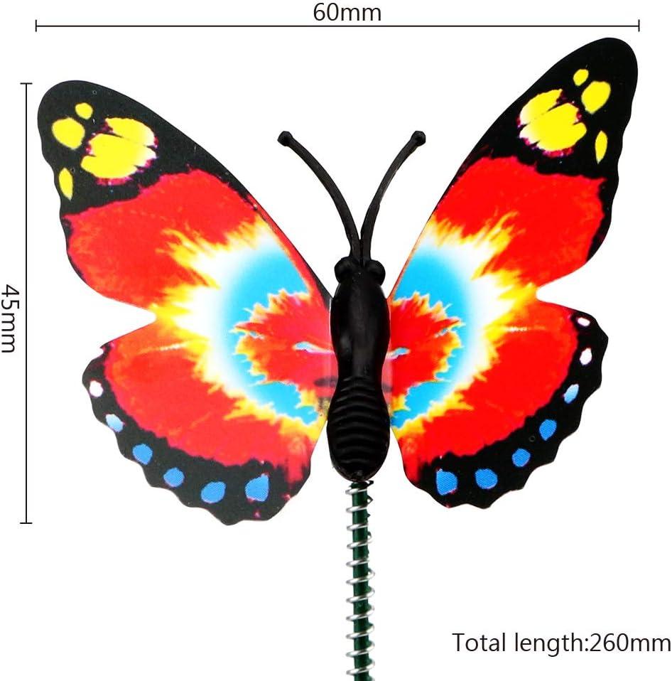 iTimo Bunte Schmetterlingspf/ähle Au/ßendekor mit Stapel Gartenbedarf 5 St/ück//B/ündel Schmetterling Blument/öpfe Gartendekoration