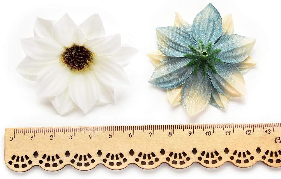 80 pi/èces de 5 cm Couronne de Fleurs Mariage AZXU Fleurs en Soie artificielles en Vrac en Soie pour d/écoration de Maison